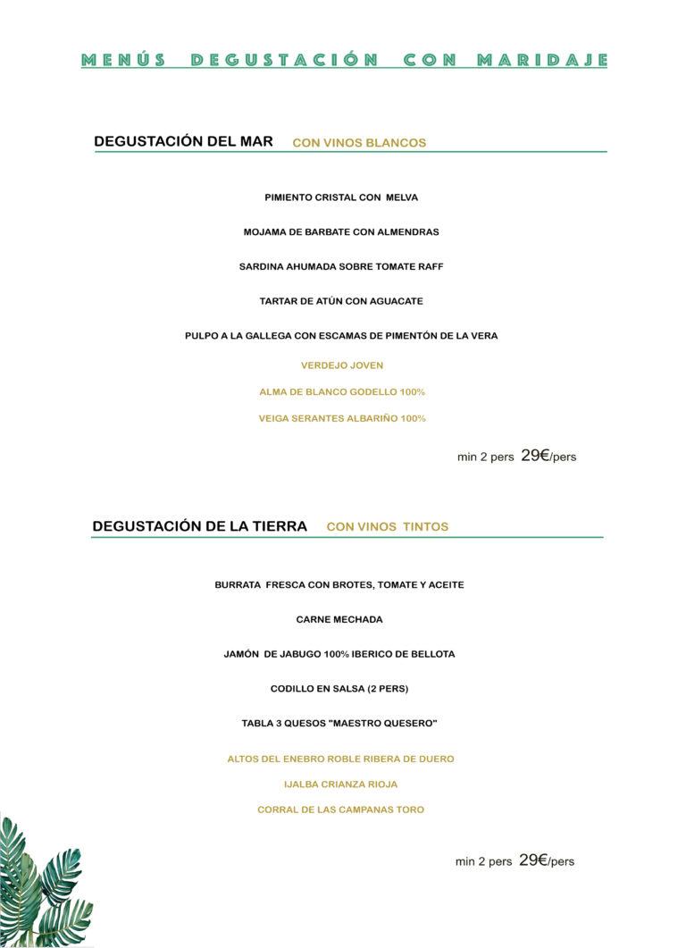 Menú Degustación en Madrid por 29€